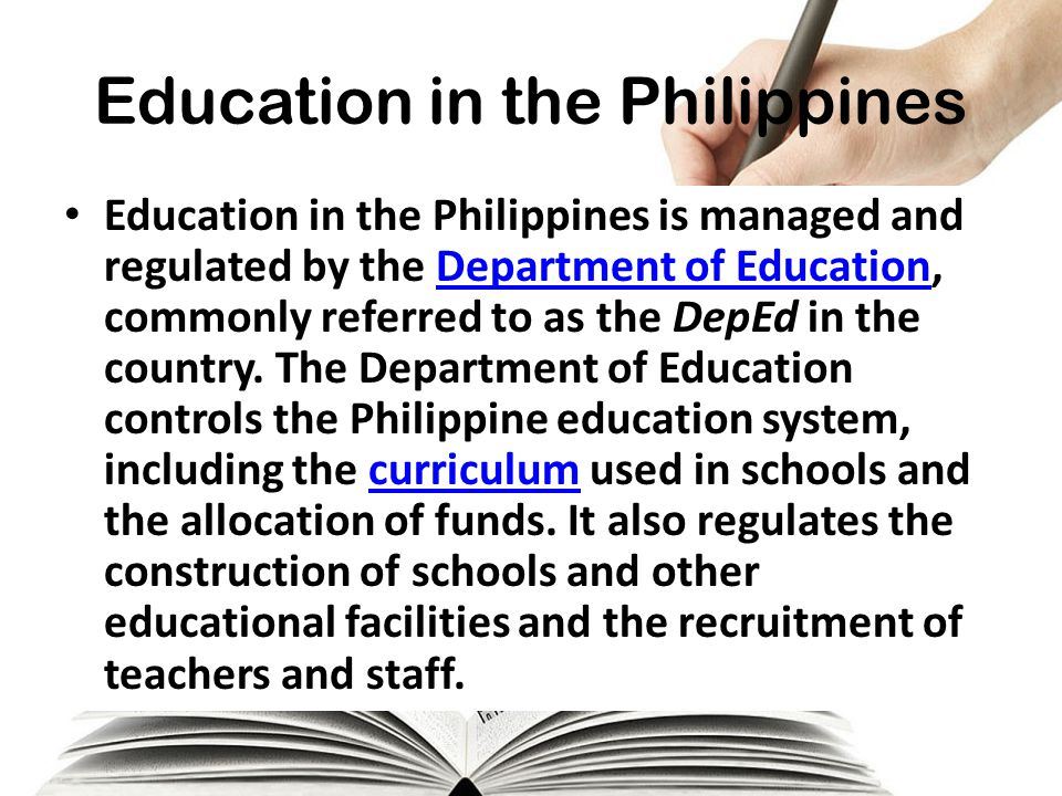 advantages of the philippine educational system The k -12 education system: last school year 2012-2013, the educational system of the the implementation of the k-12 education plan in the philippine basic.