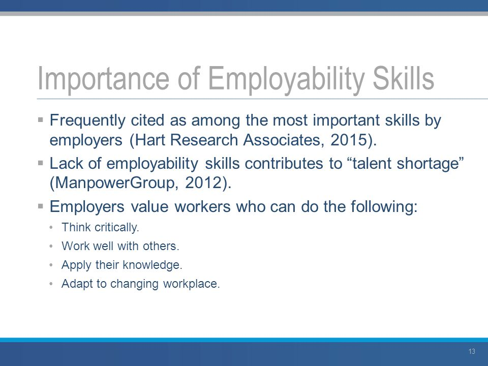 skills which employers value integrating employability skills a framework for all
