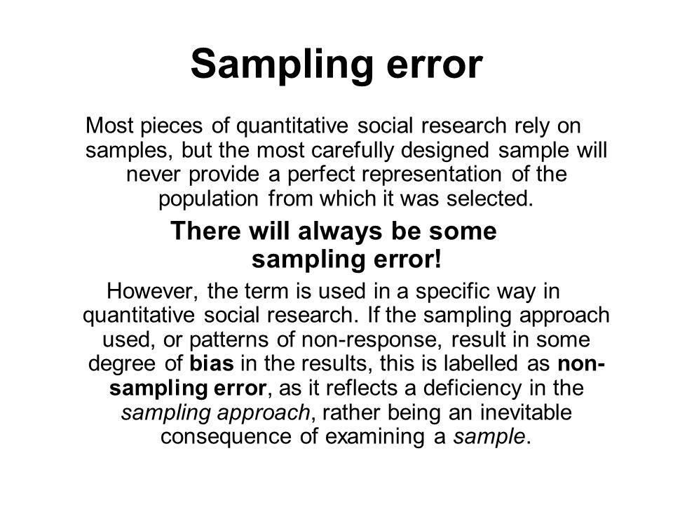 Sampling in quantitative research