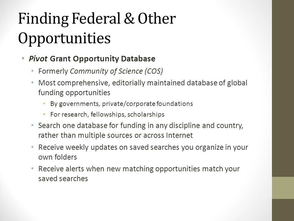 Finding Federal & Other Opportunities