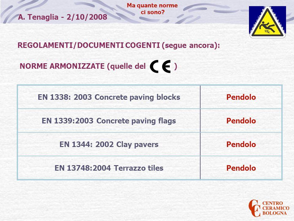 REGOLAMENTI/DOCUMENTI COGENTI (segue ancora):