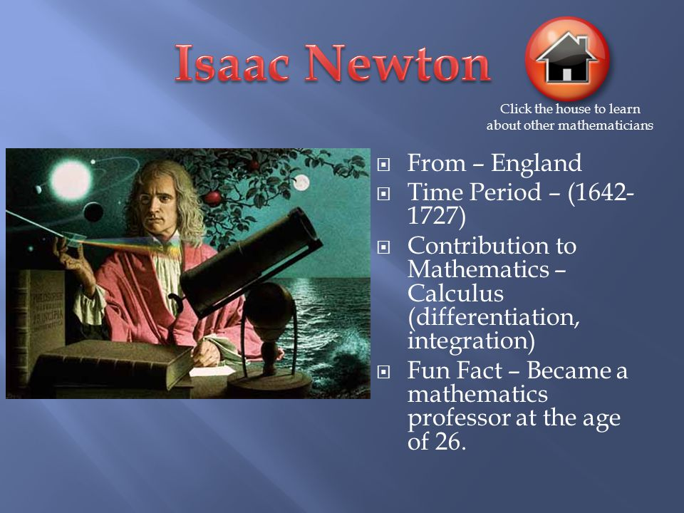 the contribution of isaac newton to math and science Transcript of contributions of sir isaac newton and galileo galilei  galileo and today's view of science newtons work  contributions of sir isaac newton and .