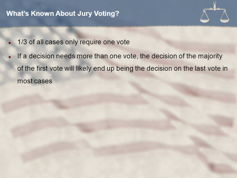 What's Known About Jury Voting