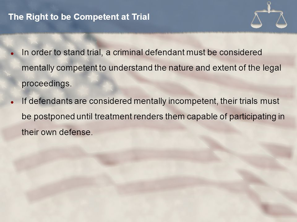 The Right to be Competent at Trial