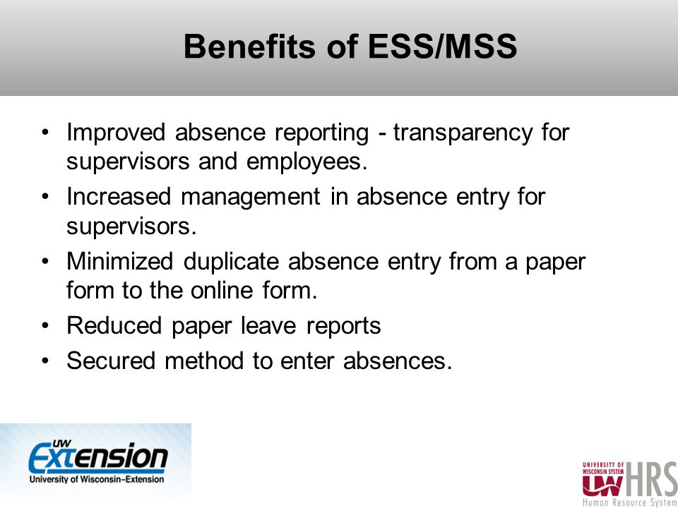 Unclassified Employee Leave Entry Employee Self-Service - Ppt Download