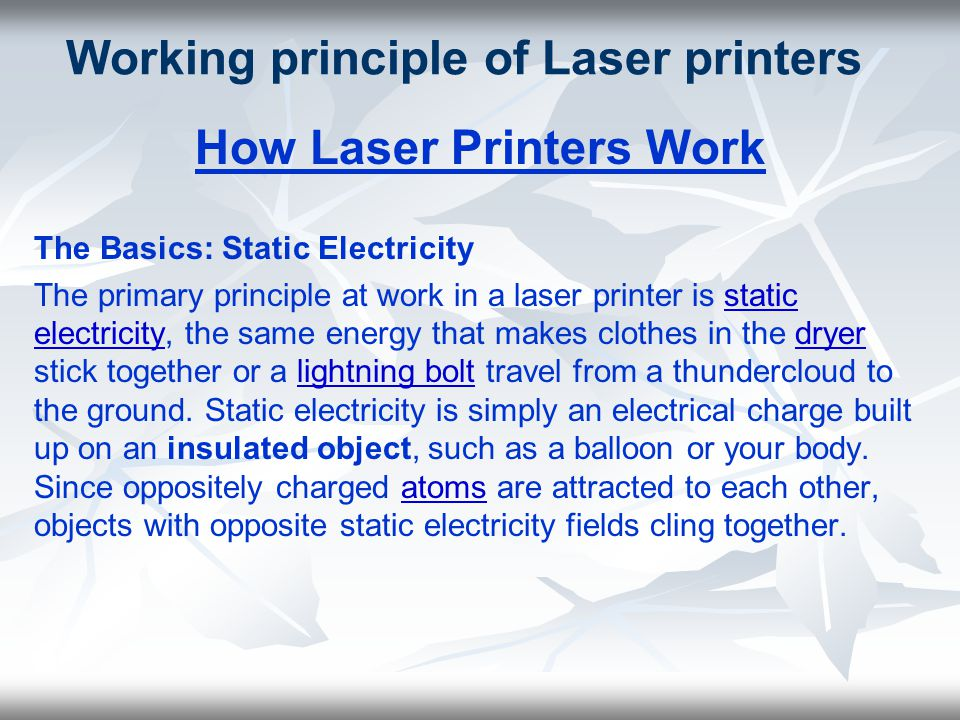 Working principle of Laser printers How Laser Printers Work