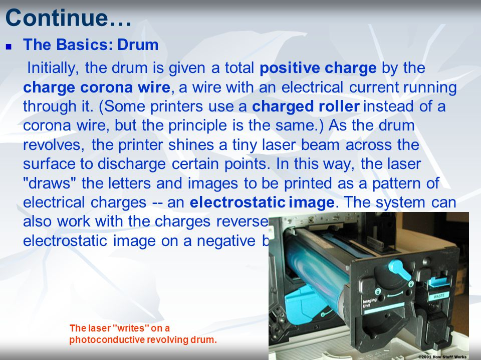 Continue… The Basics: Drum