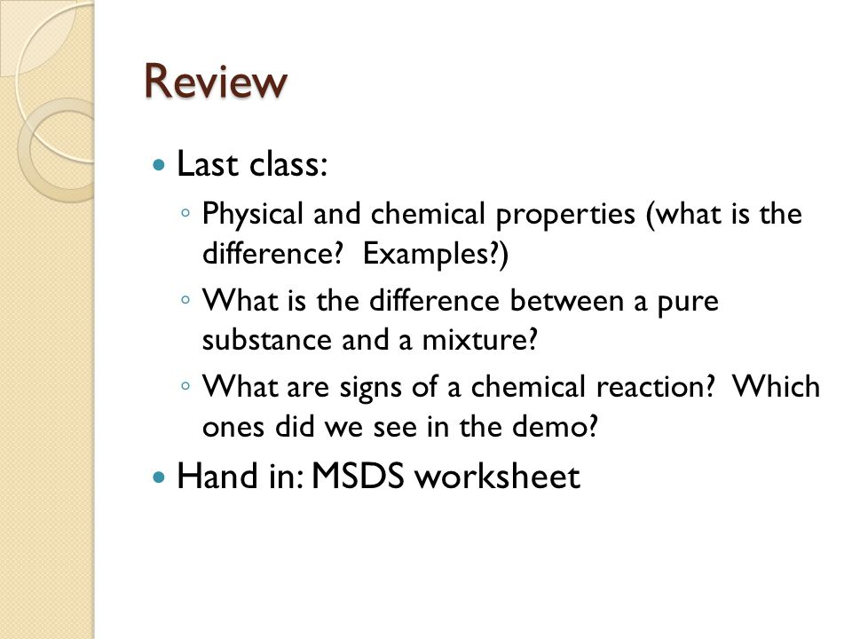 Developing Ideas about Matter ppt video online download – Msds Worksheet