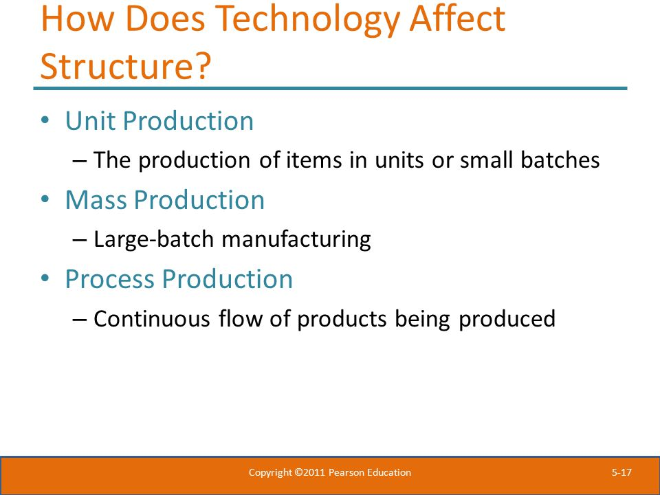 How Does Technology Affect Structure