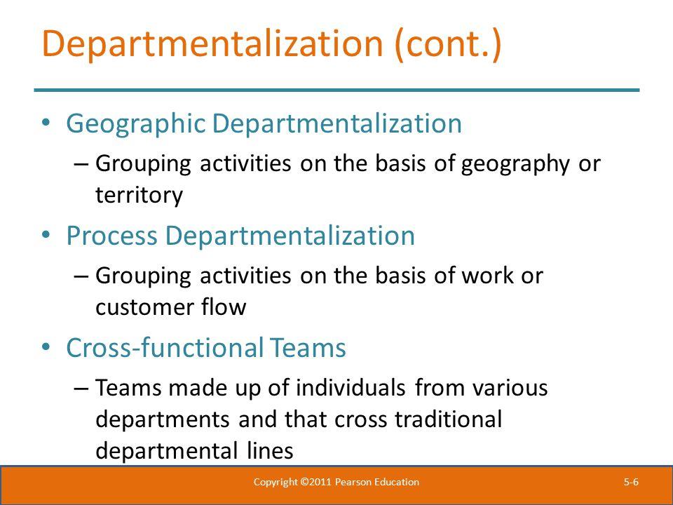 Departmentalization (cont.)