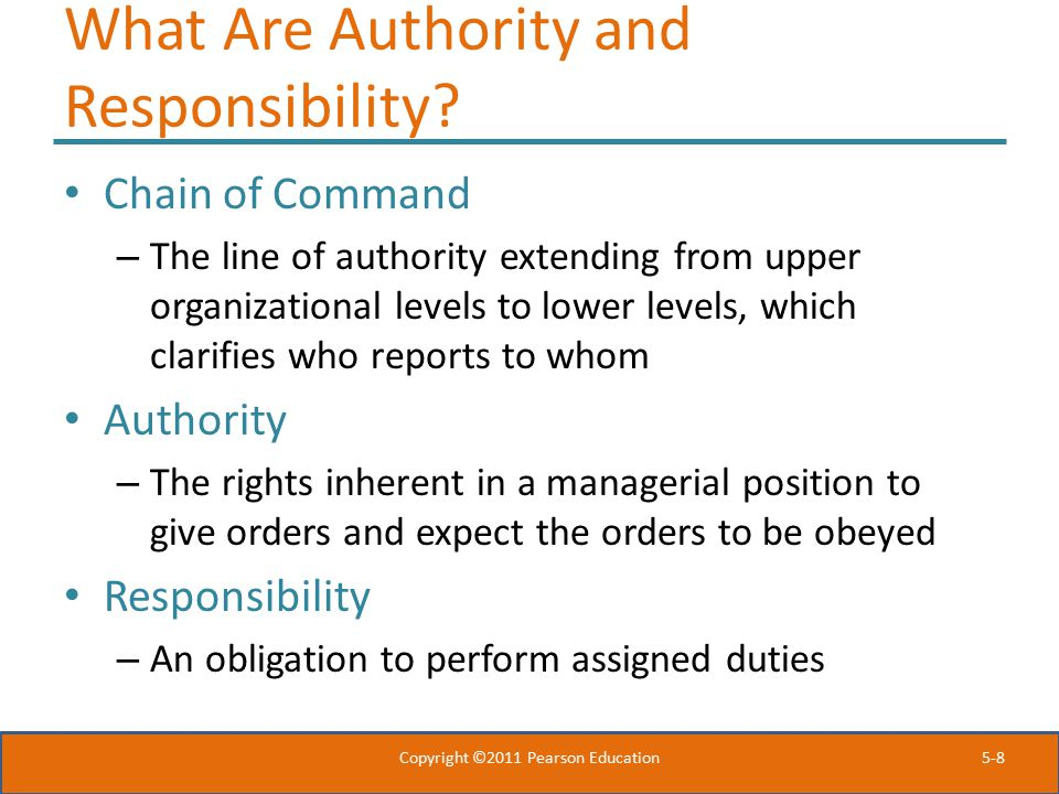 What Are Authority and Responsibility