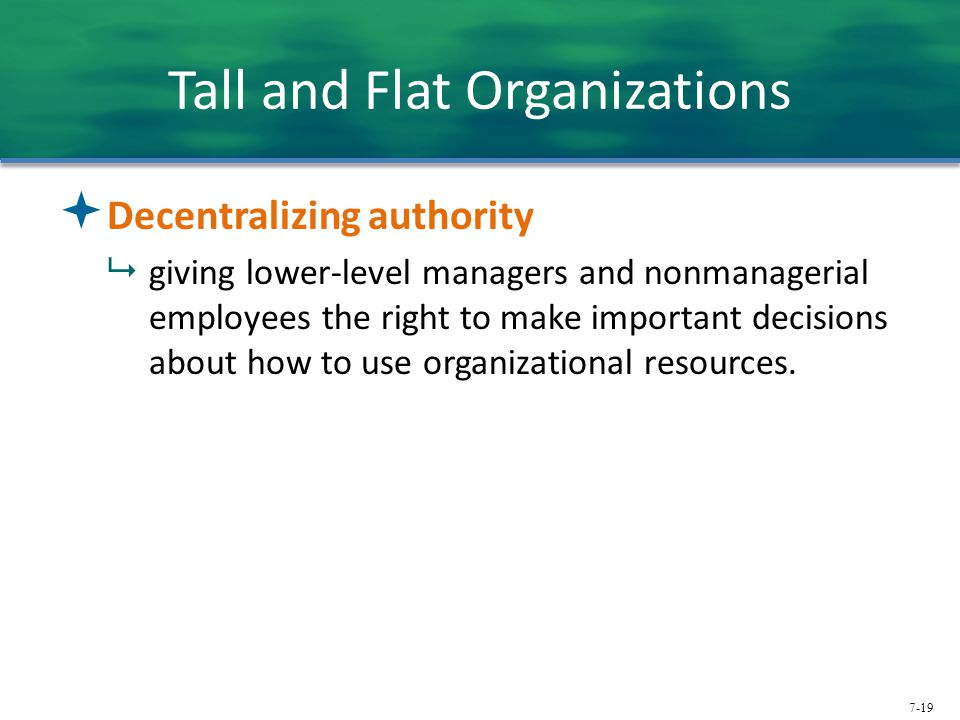 Tall and Flat Organizations