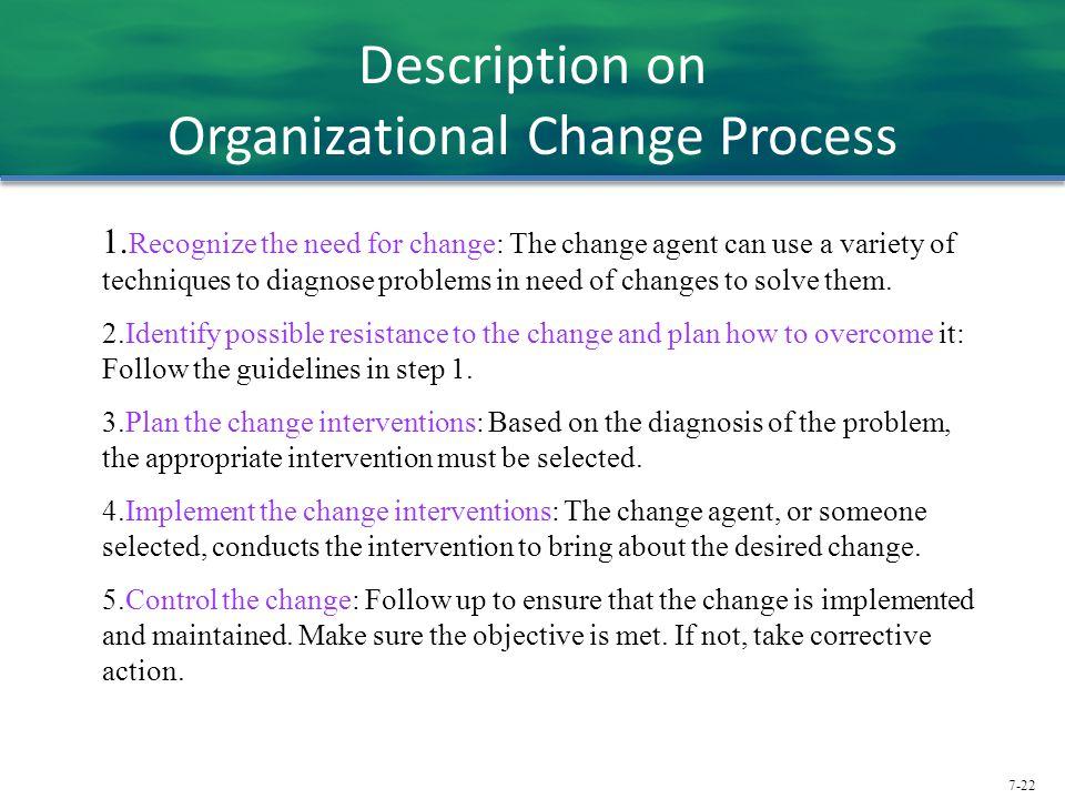 Description on Organizational Change Process