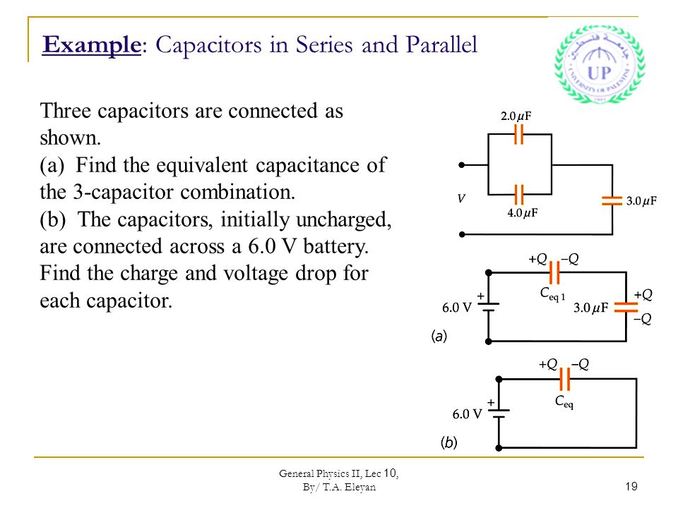 capacitor and equivalent capacitance G12: capacitance revision study  equivalent capacitance of a parallel capacitor is  in a parallel-plate capacitor capacitance is directly proportial to.