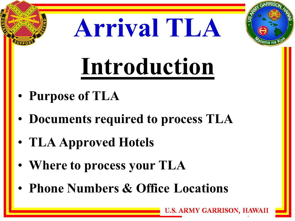 Arrival Tla Introduction Purpose Of