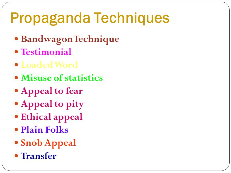 Unit 6 Text Analysis Workshop ppt download – Propaganda Techniques Worksheet