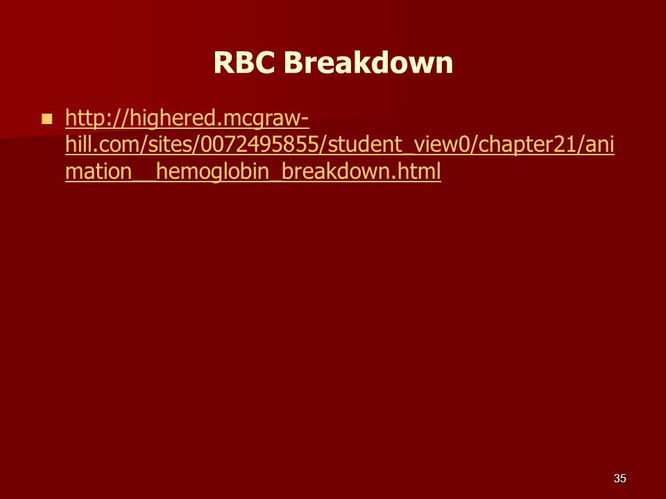 RBC Breakdown