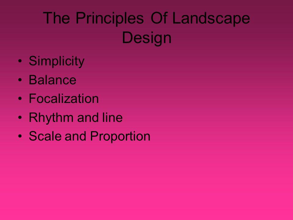 Focalization In Landscape Design