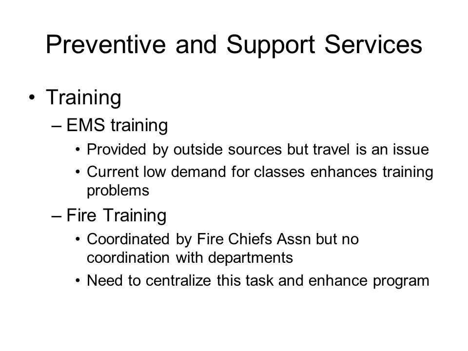 Preventive and Support Services