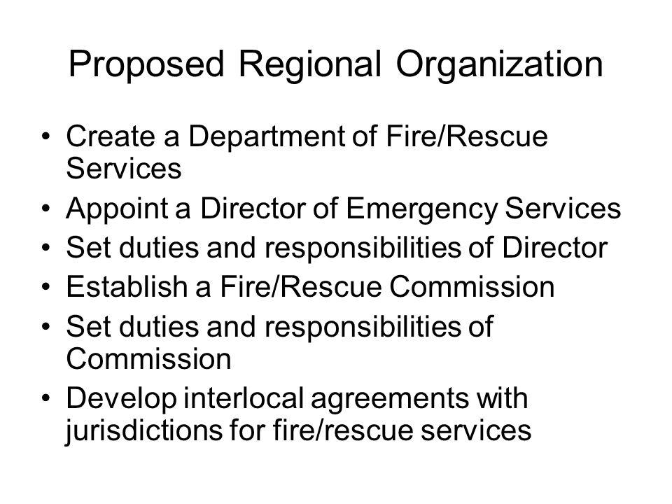 Proposed Regional Organization