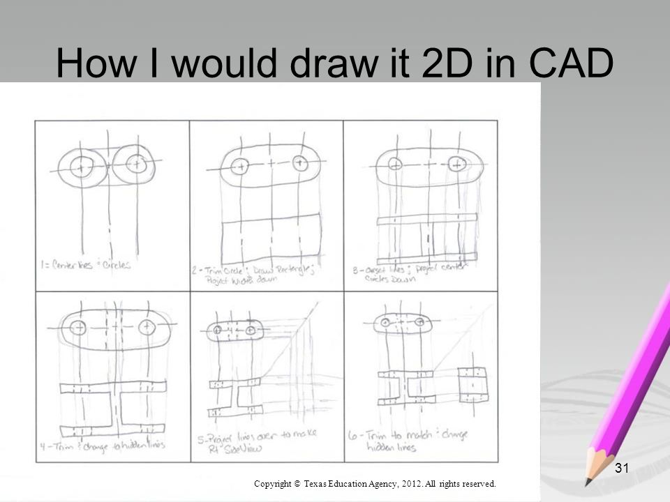 How I would draw it 2D in CAD