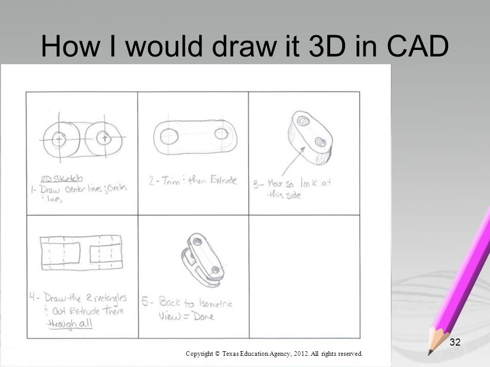 How I would draw it 3D in CAD