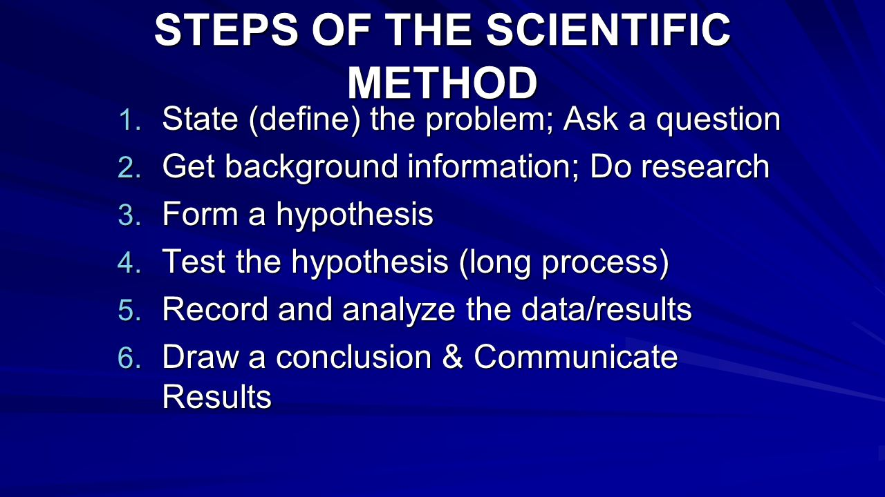 How the Scientific Method Works