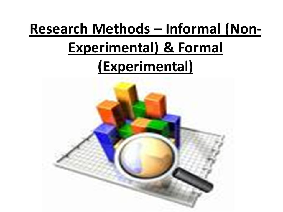 Formal and Informal Research Methods