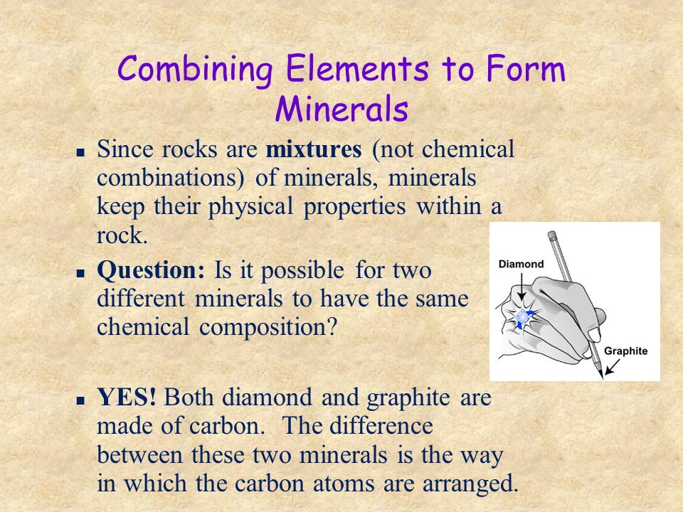 Combining Elements to Form Minerals