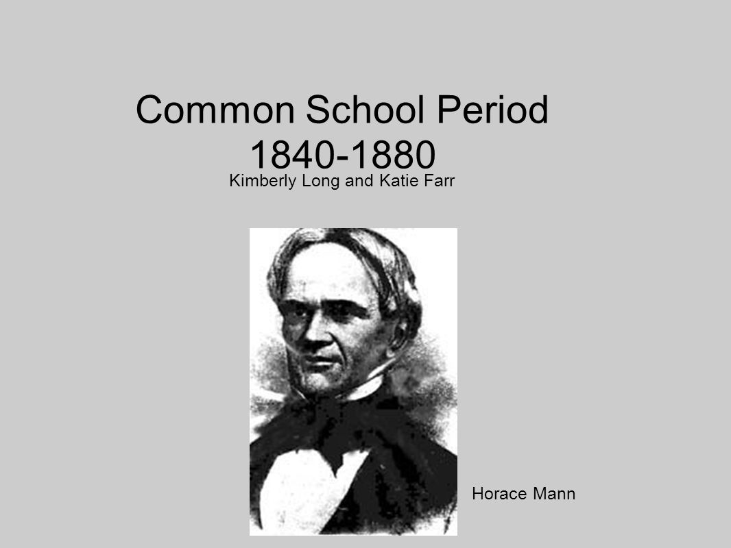 horace mann and purpose of schooling Lesson title: horace mann and the purpose of public education grade level: grade eight lesson 9 unit of study: the divergent paths of.