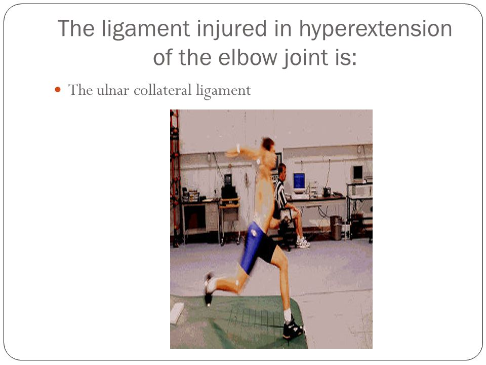 The ligament injured in hyperextension of the elbow joint is: