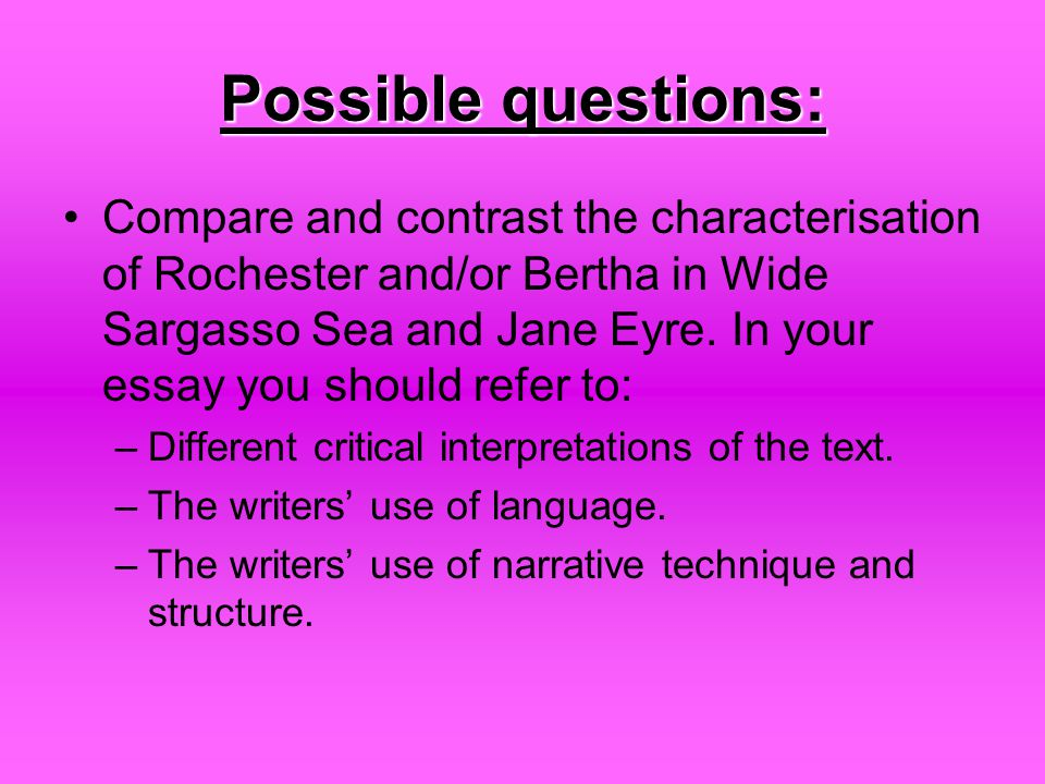 narrative techniques in wide sargasso sea essay