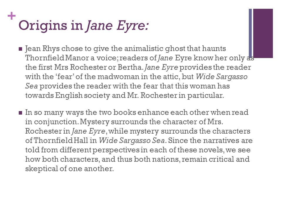 the significance of the title relationship jane eyre ppt  8 origins