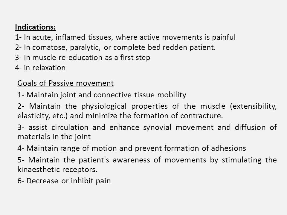 active range of motion