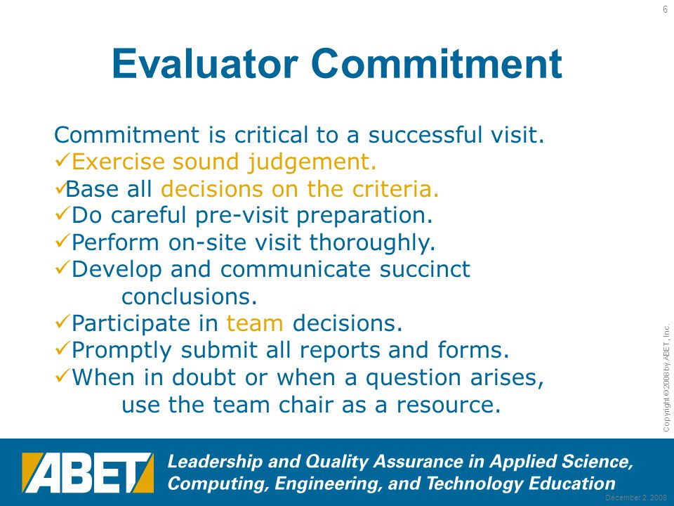 6 evaluator commitment commitment education evaluator - Education Evaluator
