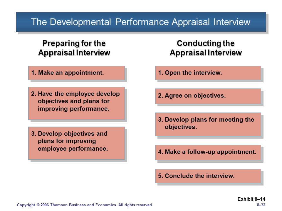 The Developmental Performance Appraisal Interview