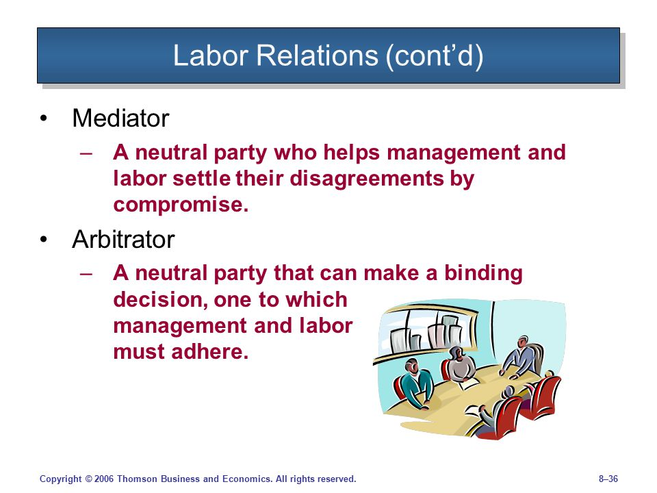 Labor Relations (cont'd)
