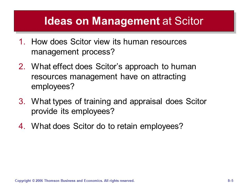 Ideas on Management at Scitor