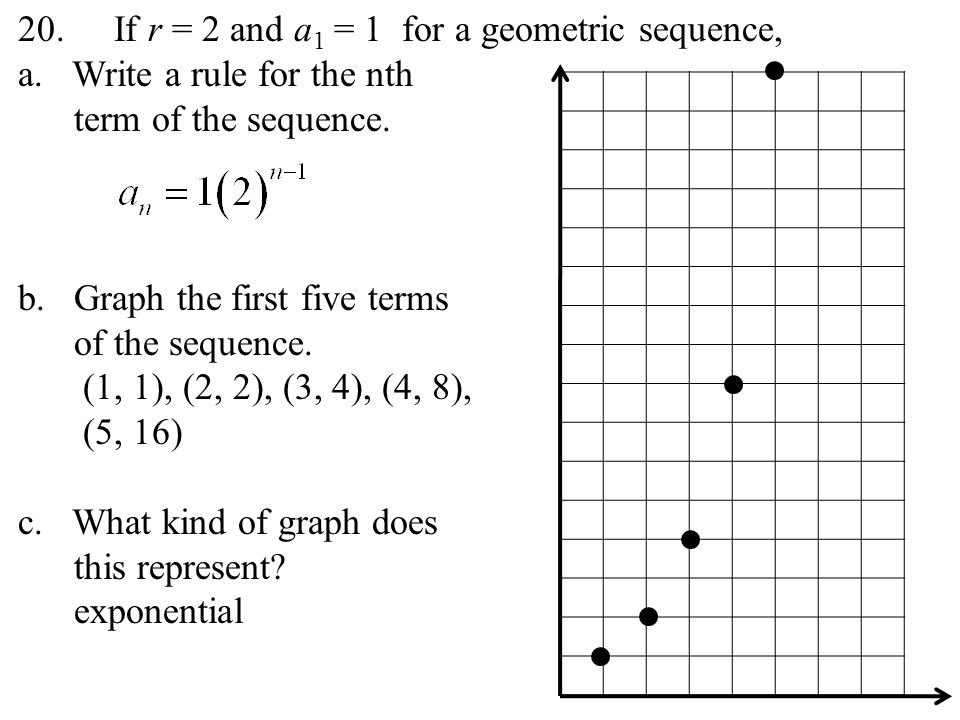 geometric sequences section ppt video online download