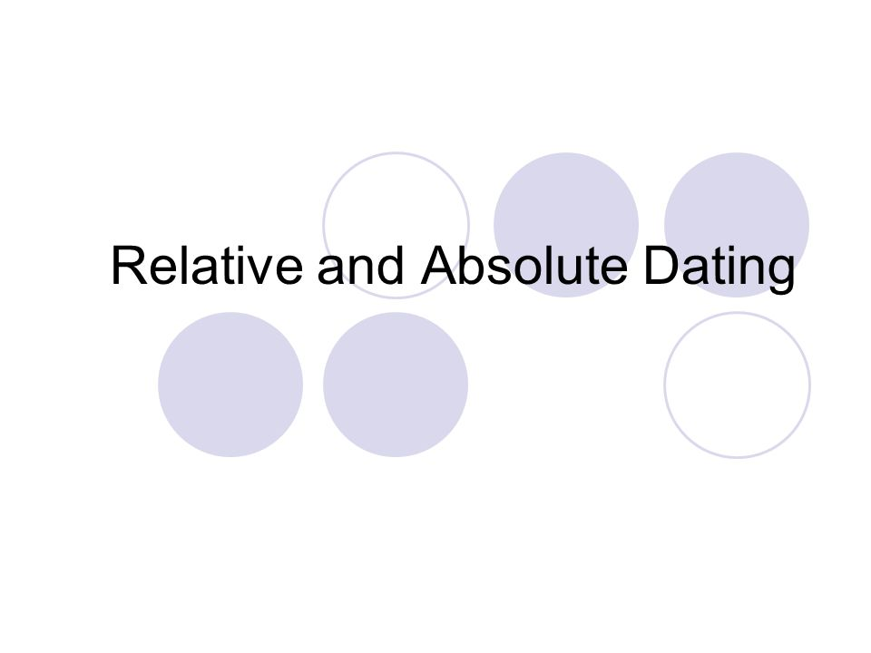 Relative and absolute age dating