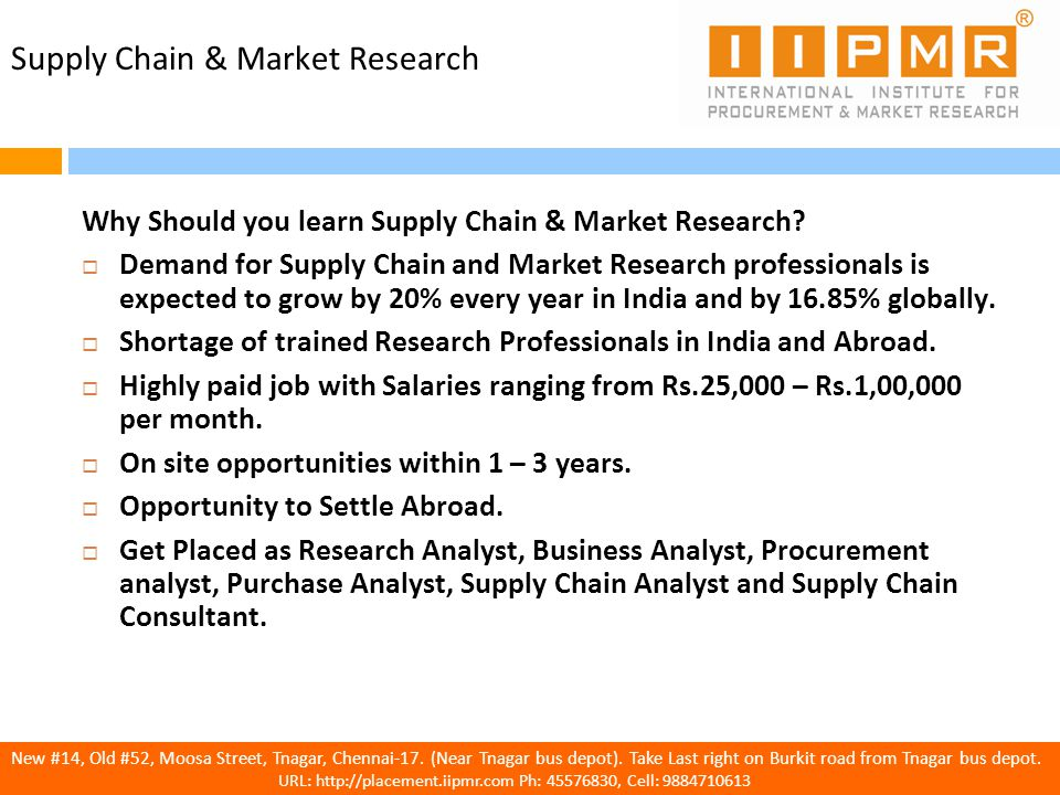 Advanced Dual Diploma in Supply Chain Management and Market Research ...