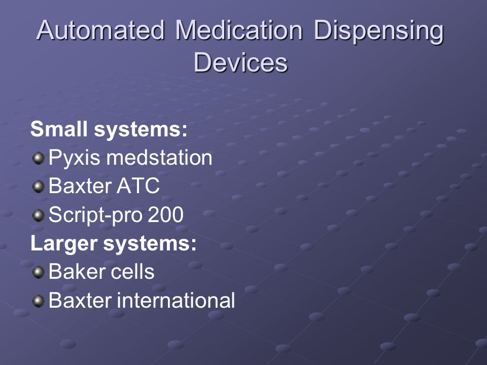 Automated medication dispensing devices