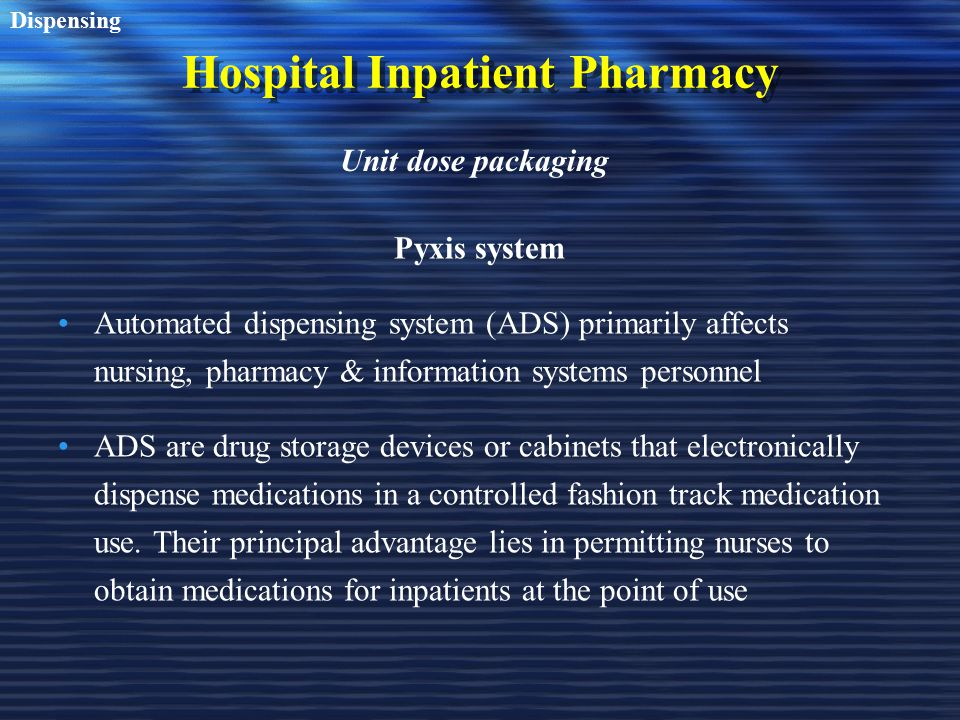 Technology Amp Automation In Pharmacy Practice Part I Amp Ii