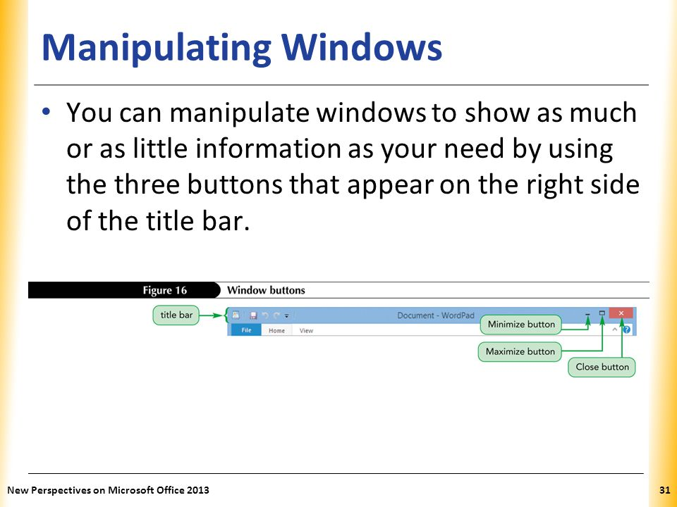 Manipulating Windows