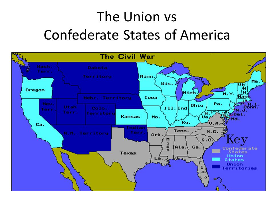 The American Civil War Ppt Video Online Download - The confederate states us territories and united states map