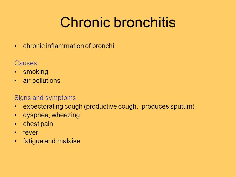 Chronic Bronchitis (Symptoms, Causes, Treatment, Remedies) Center