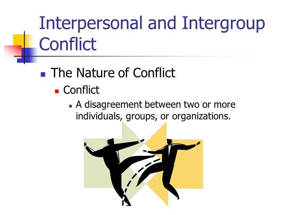 an introduction to the analysis of interpersonal conflict The analysis of the relationship between job stress, interpersonal conflict,  introduction in literature it is.