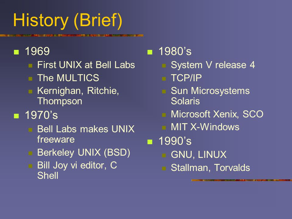 a brief history of unix as a substitute to the xenix operating system How mmdf is used 22) where to get mmdf 23) a brief history  type of operating system would  sco unix system v/386 - configuring mmdf in a uucp.