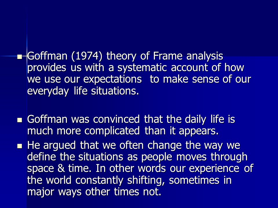 An analysis of the definition of stigma by goffman