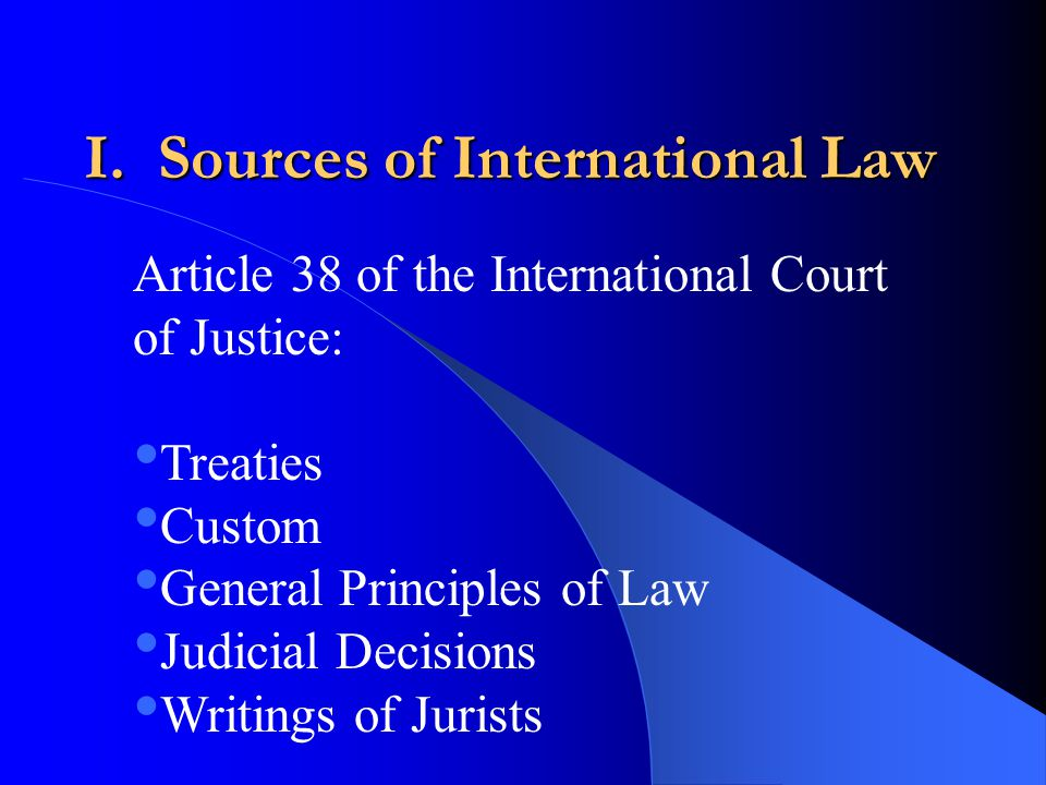 summary international law International law and agreements: their effect upon us law congressional research service summary this report provides an introduction to the roles that international law and agreements play in the united states international law is derived from two primary sources—international agreements and customary practice.